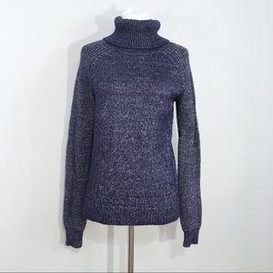 Vineyard Vines Navy Blue Wool Blend Turtleneck M